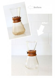 How to clean your chemex coffee maker without chemicals.