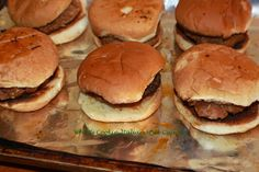 What's Cookin' Italian Style Cuisine: Homemade Sausage and Mushroom Slider Recipe