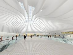Santiago Calatrava's Oculus train station for the updated World Trade Center site in Manhattan .... maybe it is a financial boondoggle, but it's a beautiful one