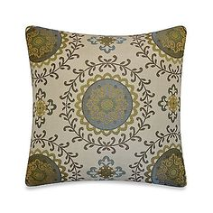 Scandic Throw Pillow in Green
