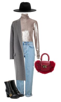 """""""ug"""" by lavieesbella on Polyvore featuring PALLAS, Topshop, Gucci, CÉLINE, Études and SALAR"""