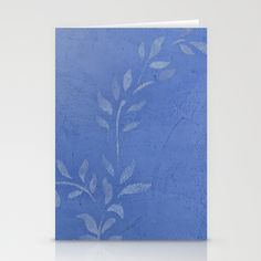 Blue Marble Vine Stationery Cards by Corbin Henry - $12.00 Blank greeting cards. Great for client, friends, and family thank you cards. Created with authentic Venetian Plaster and stencil by certified Venetian Plaster Artisan. Bring your personal artistic style to everyday correspondence. #diy #crafts #personal #greetingcards @society6