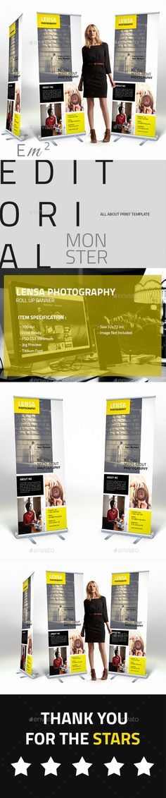 Lensa Photography Roll Up Banner