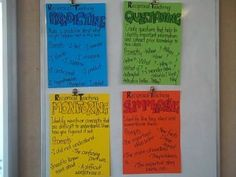 Reciprocal Teaching Posters or use as prompts for Dialectial Notebooking Reciprocal Reading, Guided Reading, Teaching Reading, Learning, Common Core Ela, Common Core Reading, School Fun, School Stuff, School Ideas