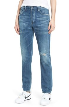 Beautiful Citizens of Humanity Corey Slouchy Slim Jeans (Manteca) Best Seller Womens fashion clothing from top store Lira Clothing, Chambray Top, Tapered Jeans, Citizens Of Humanity, Jeans Dress, Slim Jeans, Boyfriend Jeans, Clothes For Women, Nordstrom