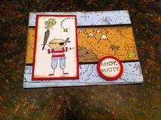 Stampin Up Ahoy Matey pirate card kit treasure ship map parrot island so cute