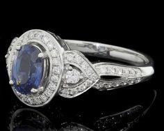 1.40ct Sapphire and Diamond Ring GR003