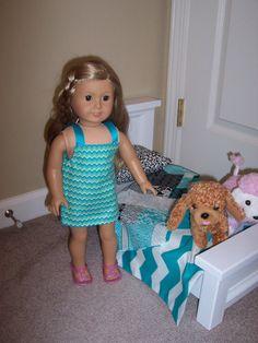 Chevron sundress for American Girl doll by GiGisDollCreations, $8.00