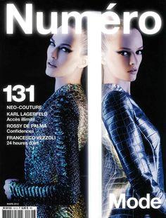 Numéro Paris March 2012  Aymeline Valade & Daria Strokous