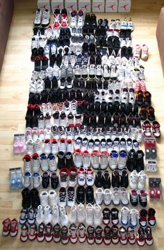 DAMN!!! ♥♥♥ -- Will one day be my son's collection. From baby to men's size :D