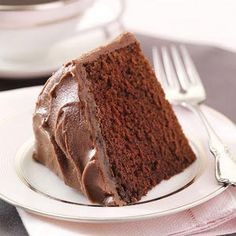 """Old-Fashioned+Fudge+Cake  Makes a single layer 6"""" cake. Nice for a small family."""