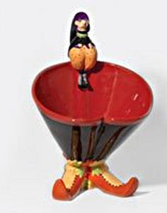 WITCH SHOE CANDY BOWL * KRINKLES * Patience Brewster * halloween * Dept56 #Department56
