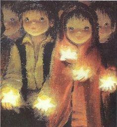 Vintage Christmas Cards, Christmas Art, Illumination Art, Kids Poems, Spanish Painters, Holly Hobbie, Madonna And Child, Christmas Illustration, Magnum Photos