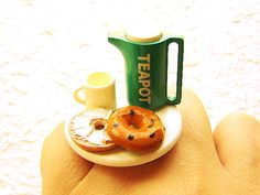Tea Ring Kawaii Food Bagel