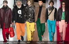 Мужские брюки 2016 2017 Осень Зима в 10 тенденциях