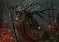 Another Fantasy Being Dark Fantasy, Fantasy Forest, Medieval Fantasy, Fantasy World, Forest Creatures, Fantasy Creatures, Character Inspiration, Character Art, The Ancient Magus Bride