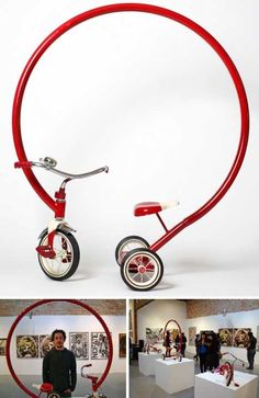 Who needs to learn how to ride a bicycle with tricycles like these. I want one.