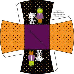 Halloween Menino – Kit Completo com molduras para convites, rótulos para guloseimas, lembrancinhas e imagens! |Fazendo a Nossa Festa