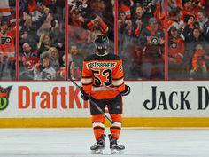 Flyers defenseman Shayne Gostisbehere set an NHL record for the longest point streak by a rookie defenseman when he scored Saturday against the Devils.