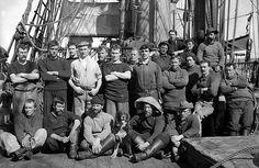 Brave: Captain Scott's crew pose for a group photo on the Terra Nova