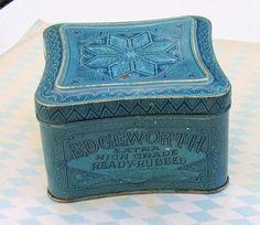 Edgeworth Ready Rubbed Tobacco Blue Tin by BeverlysBazaar on Etsy, $30.00