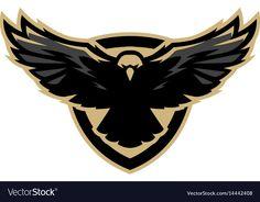 Eagle in flight logo symbol Royalty Free Vector Image , Free Vector Graphics, Free Vector Art, Flight Logo, Hawk Logo, Falcon Logo, Eagle In Flight, Eagle Art, Game Logo Design, Crest Logo