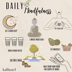 take care of your mind, your heart and your body 5 Minute Meditation, Mindful Eating, Good Sleep, Take Care Of Yourself, Mindfulness, Sayings, Heart, Lyrics, Consciousness
