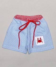 Look what I found on #zulily! Blue & Red Crab Swim Trunks - Infant & Toddler #zulilyfinds