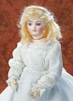 Home At Last - Antique Doll and Dollhouses: 227 Gorgeous French Bisque Poupee with Rare Dehors Articulation