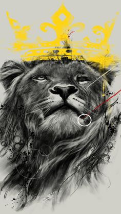 Lion king illustration - High quality htc one wallpapers and abstract backgrounds designed by the best and creative artists in the world. Lion Live Wallpaper, Htc Wallpaper, Dark Wallpaper, Tatoo Biceps, Lamb Tattoo, Crown Background, Lion And Lamb, Lion Images, King Tattoos