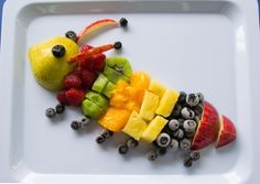Cool fruit tray It has a bug on it.