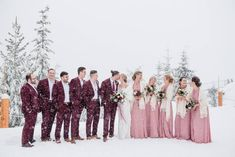Top of the World Wedding via Rocky Mountain Bride Winter Mountain Wedding, Snowy Wedding, Wedding Bells, Wedding Day, Winter Wedding Ceremonies, Wedding Ceremony, Winter Wedding Inspiration, Bridesmaid Dresses, Wedding Dresses