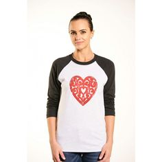 It's all about heart. Why not keep it open and wear it on a tee?! #VintageHeartTee #Valentines