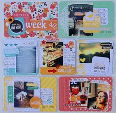 Project Life: Week 42-2013.  Just Add Color Core Kit