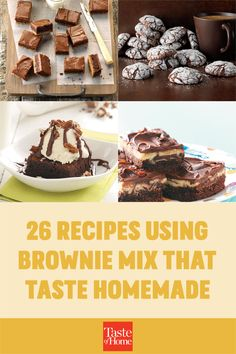 Our favorite shortcut to decadent desserts? Recipes using brownie mix. Just grab a box from the pantry and get ready to enjoy trifles, bars, cheesecake and more. Brownie Pops, Brownie Sundae, Banana Brownies, Mint Brownies, Homemade Chocolate Frosting, Homemade Brownies, Dessert Ideas, Dessert Recipes, Grilled Bananas