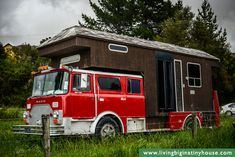 Old Fire Engine Turned into a House Truck | Living Big in a Tiny House