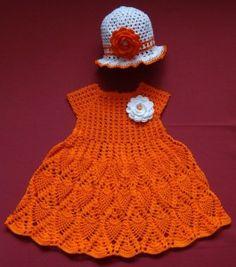 orange dress for a little girl