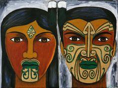 Robyn Kahukiwa is a prominent Maori artist, who has established a strong connection between art and politics. Nz Art, Art For Art Sake, Kunst Der Aborigines, Polynesian Art, New Zealand Art, Maori Art, Kiwiana, Aboriginal Art, Art Forms