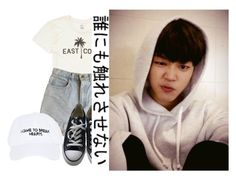 """- Baby Jiminnie -"" by xxxaskingalexandriaxxx ❤ liked on Polyvore featuring Billabong, American Apparel, Converse and Nasaseasons"