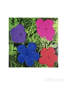 Flowers (Purple, Blue, Pink, Red) Print by Andy Warhol at AllPosters.com