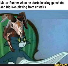 Motor-Runner when he starts hearing gunshots and Big Iron playing from upstairs - iFunny :) Fallout Meme, Fallout Art, Fallout New Vegas, Fallout Comics, Iron Man Memes, American Firefighter, Bioshock Cosplay, Tv Show Games, Gaming Memes