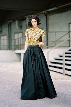 Fashion Consultant Yasmin Sewell, before Dries Van Noten, Paris, September 2013.