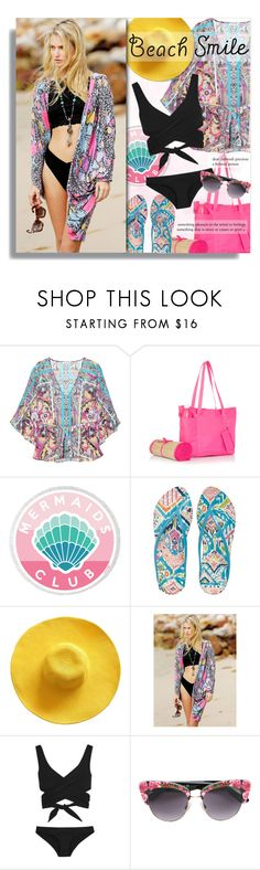 """Sun's Out: Beach Day"" by xiandrina ❤ liked on Polyvore featuring Etro, JustFab, Sakroots, Lisa Marie Fernandez and beachday"