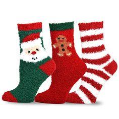 Christmas Fleece Socks2 Pair Per Set Kids Women Boy Girl Fleecy Cosy Socks