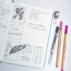 "3,870 Likes, 43 Comments - Roz • Bullet Journal (@rozmakesplans) on Instagram: ""Weekly dashboard kind of thing with more feathers. #bulletjournal #bulletjournaling #planner #bujo"""