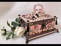 annes papercreations: Tutorial on How to make the gate fold box for the Mon Amour Mini Album