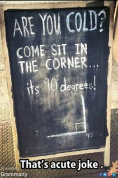 Lol...Not acute, however. This joke is just right.