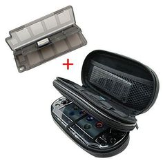 Teckone All-in-one Storage Carry Travel Case Bag for Sony Playstation PSV PS Vita PSVITA PSV1000 and Slim 2000 fits Charger cable/Game Cards