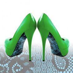 Liquid Heels Pimp your heels - kant blauw design.    Verkrijgbaar op Www.LiquidHeels.nl