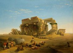 """Ruins of the Temple, Kom Ombos, Upper Nile, Egypt"" - David Roberts"